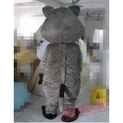 Animal Cartoon Cosplay Grey Dog Mascot Costume