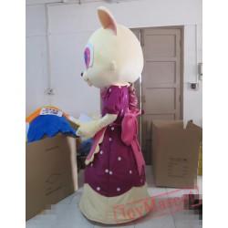 Animal Cartoon Cat Teacher Mascot Costume