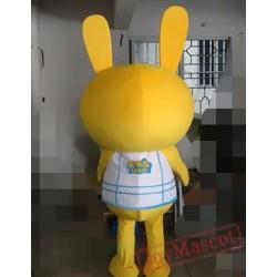 Animal Cartoon Cosplay Horse Yellow Rabbit Mascot Costume