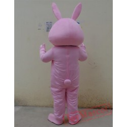 Animal Cartoon Cosplay Pink Rabbit Mascot Costume