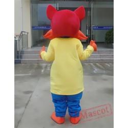 Animal Cartoon Yellow Cat Mascot Costume