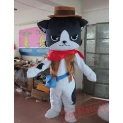 Animal Cartoon Animal American Cowboy Cat Mascot Costume