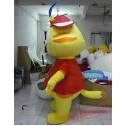 Animal Cartoon Rabbit Cartoon Yellow Rabbit Mascot Costume