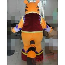 Cartoon Plush Fat Tiger Mascot Costume