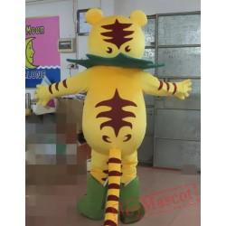 Cartoon Tiger King Mascot Costume