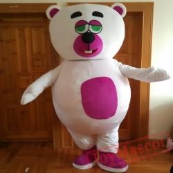 Animal Cartoon Little White Bear Mascot Costume