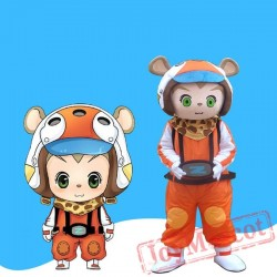 Cartoon Bear Mascot Costume For Adullt & Kids