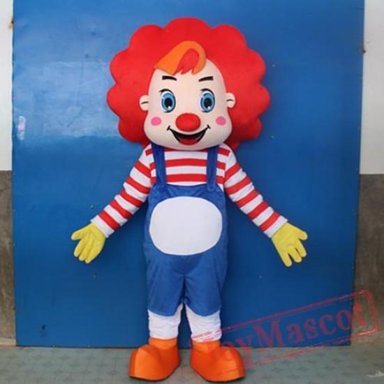 Adult Circus Clown Cartoon Mascot Costume For Adullt & Kids