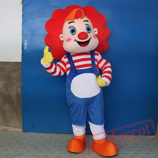 Adult Circus Clown Cartoon Mascot Costume For Adullt & Kids