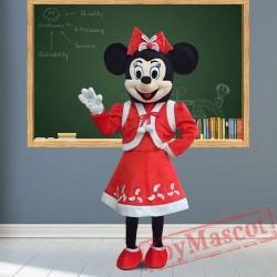 Disney Christmas Minnie Mouse Mascot Costume