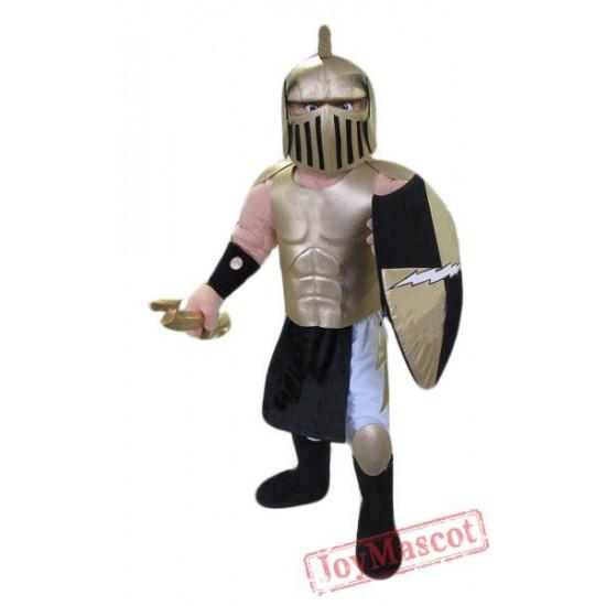 Golden Spartan Titan Trojan Mascot Costume