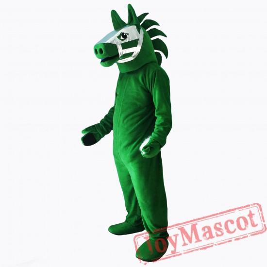 Green Trojan Horse Mascot Costume