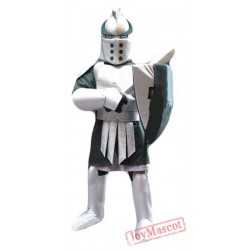 Silver Green Spartan Titan Trojan Mascot Costume