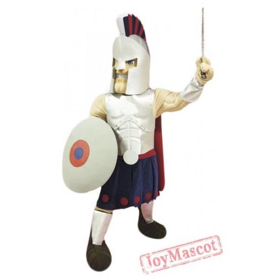 Silver Spartan Titan Trojan Mascot Costume