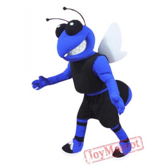 College Blue Hornet Mascot Costume