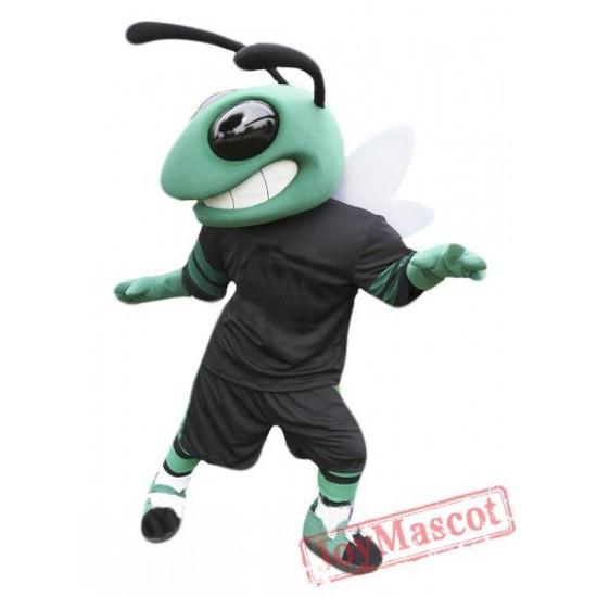 Green Sport Hornet Mascot Costume