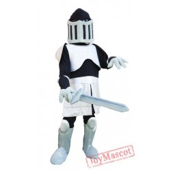Black & Silver Knight Mascot Costume