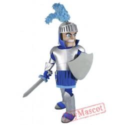 Blue & Silver Knight Mascot Costume