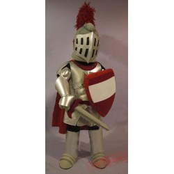 Red & Golden Knight Mascot Costume