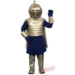 Silver Knight Mascot Costume