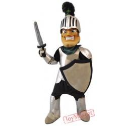 Smiling Knight Mascot Costume