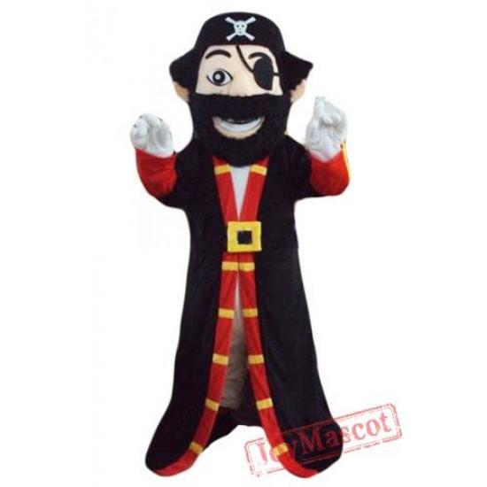 Beard Pirate Captain Mascot Costume