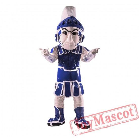 Blue Spartan Trojan Knight Sparty Mascot Costume