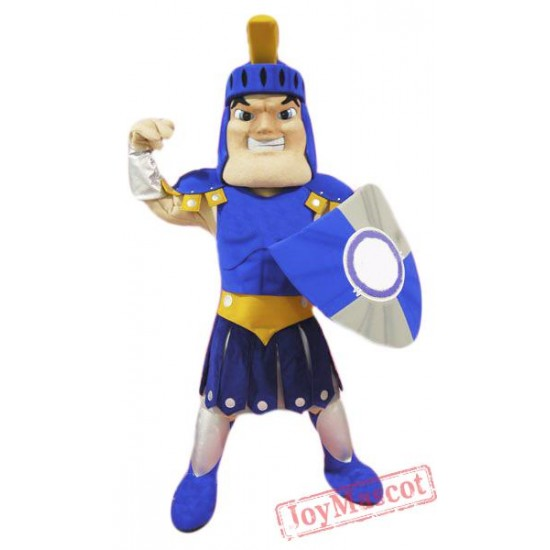 Blue Spartan Titan Trojan Mascot Costume