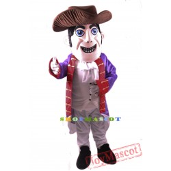 Patriot Mascot Costume Gray Hat