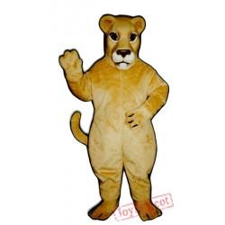 Realistic Lioness Mascot Costume