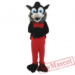 Animal Gray Wolf Plush Mascot Costume