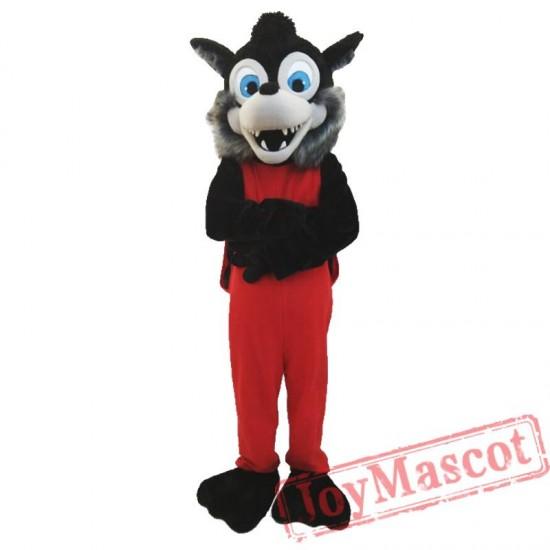 Animal Gray Wolf Plush Mascot Costume