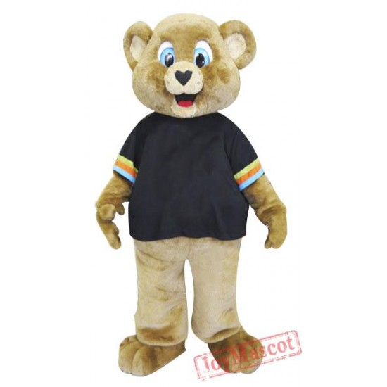 Sport Brown Bear Mascot Costume for Adult