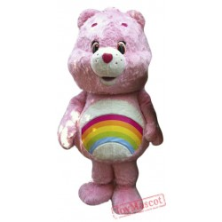 Pink Female Bear Mascot Costume
