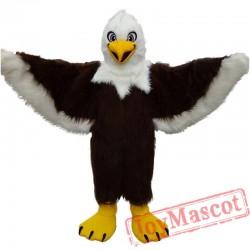 Brown Eagle Long Wool Mascot Costume