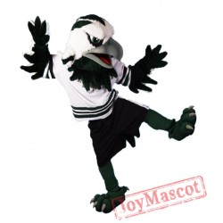 Green & White Eagle Mascot Costume