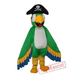 Green Eagle Mascot Costume Cartoon Costum