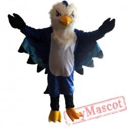 Plush Blue Eagle Mascot Costume