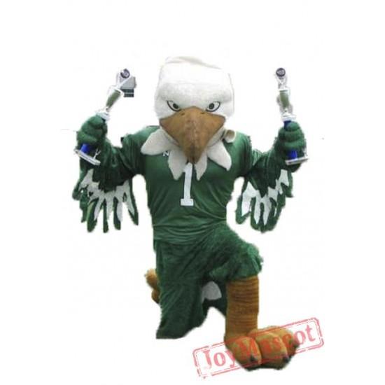 The Scrappy Green Eagle Mascot Costume