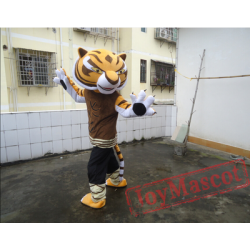 Cartton Kungfu Tiger Mascot Costume