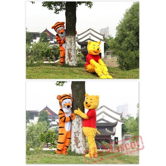 Winnie & Tiger The Pooh Mascot Costume