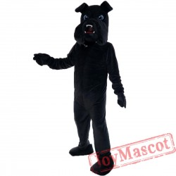 Black Bulldog Mascot Costume