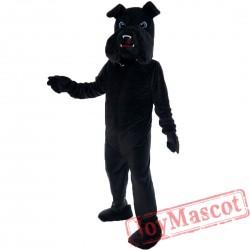 Black Bulldog Mascot Costume