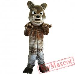 Brown Bulldog Mascot Costume Adult Costume
