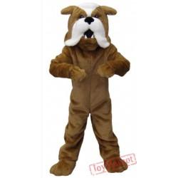 Brown Bulldog Mascot Costumes