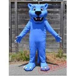 Blue Panther Mascot Costume Leopard