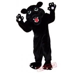 Fierce Black Panther Mascot Costume