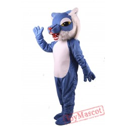 Blue Wildcat Power Cat Mascot Costume