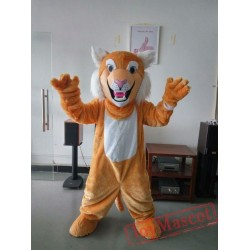 Grey Tan Wildcat Bobcat Mascot Costume