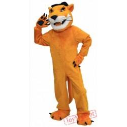 Brown Cougar Mascot Costume